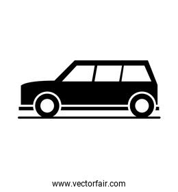 car compact crossover model transport vehicle silhouette style icon design