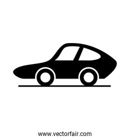 car sport model transport vehicle silhouette style icon design