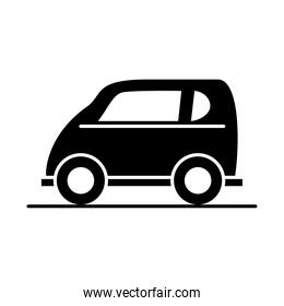 car compact mini model transport vehicle silhouette style icon design