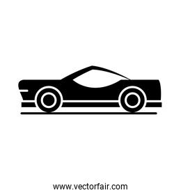 car classic model transport vehicle silhouette style icon design