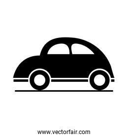 car bettle classic model transport vehicle silhouette style icon design