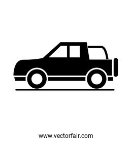 car off road vehicle model transport vehicle silhouette style icon design