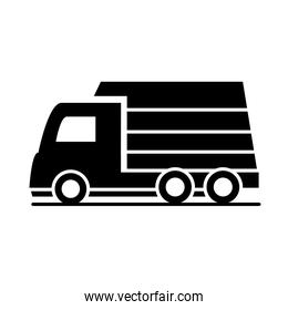 car lorry van transport vehicle silhouette style icon design