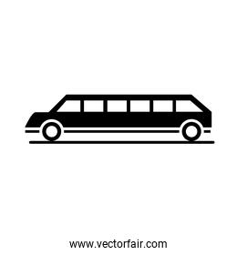 car limousine model transport vehicle silhouette style icon design