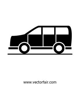 car suv transport vehicle silhouette style icon design