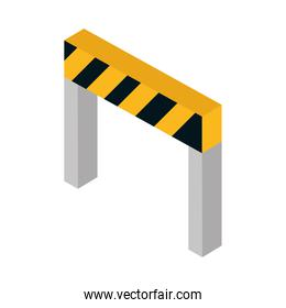 isometric repair construction barrier work tool and equipment flat style icon design