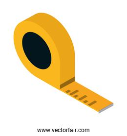 isometric repair construction measuring tape work tool and equipment flat style icon design