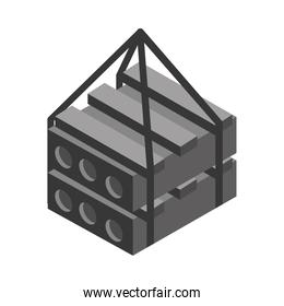 isometric repair construction material steel pallets work tool and equipment flat style icon design