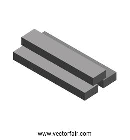 isometric repair construction steel square bars work tool and equipment flat style icon design