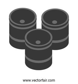 isometric repair construction barrels work tool and equipment flat style icon design