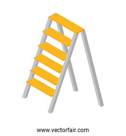 isometric repair construction aluminum stair work tool and equipment flat style icon design
