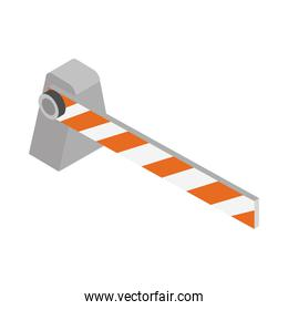 isometric repair construction automatic barrier work tool and equipment flat style icon design