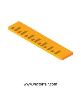 isometric repair construction ruler measure work tool and equipment flat style icon design