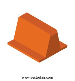 isometric repair construction roadblock barrier work tool and equipment flat style icon design