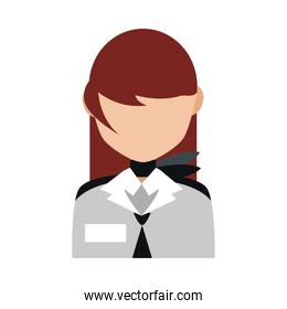 female stewardess airlines occupation professional flat style icon