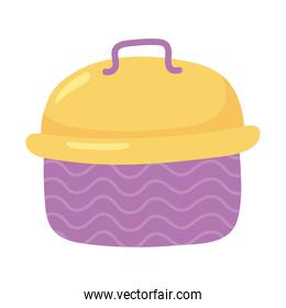 lunch box cartoon isolated icon design white background