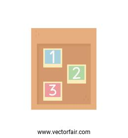 education school numbers board isolated icon design white background