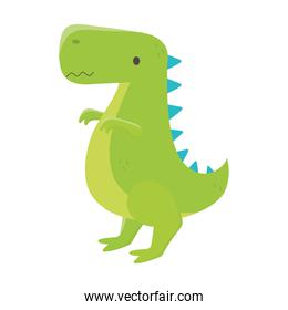 kids toys dinosaur cartoon isolated icon design white background