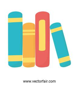 stack of books literature learning isolated icon design white background