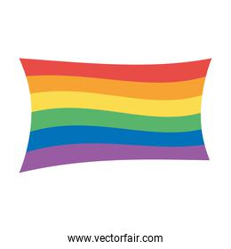 LGBTQ, community gay parade sexual discrimination rianbow flag isolated icon design