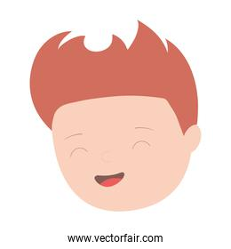 young man face cartoon character isolated icon design