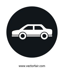 classic car model transport vehicle traffic block and flat style icon design