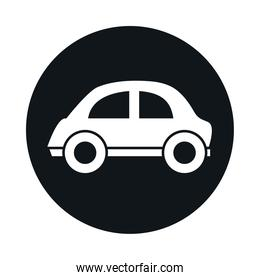 car micro model transport vehicle block and flat style icon design