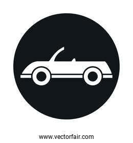 car cabriolet model transport vehicle block and flat style icon design
