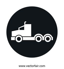 car truck head model transport vehicle block and flat style icon design
