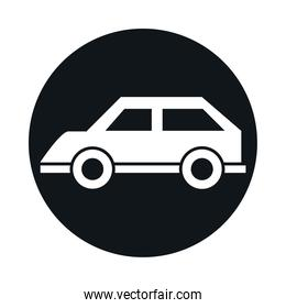 car model transport vehicle vintage block and flat style icon design