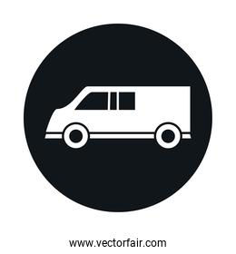 car model transport vehicle speed block and flat style icon design