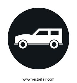 suv car model transport vehicle block and flat style icon design