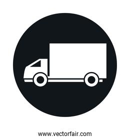 delivery truck model transport vehicle block and flat style icon design
