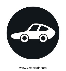 car sport model transport vehicle block and flat style icon design
