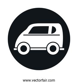 car compact mini model transport vehicle block and flat style icon design