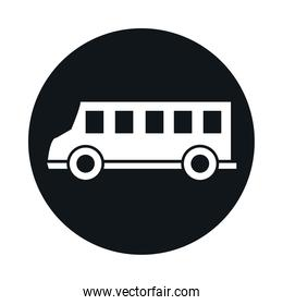 car model transport vehicle block and flat style icon design