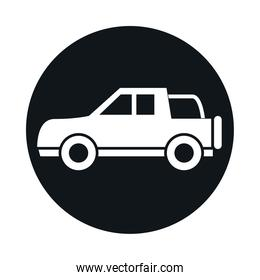 car off road vehicle model transport vehicle block and flat style icon design