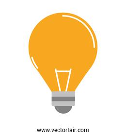 light bulb electricity power flat style icon