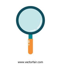magnifying glass search discovery flat style icon