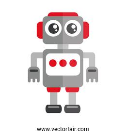 cartoon robot toy object for small children to play, flat style icon