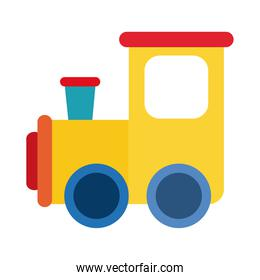cartoon train toy object for small children to play, flat style icon