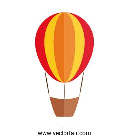 cartoon hot air balloon toy object for small children to play, flat style icon