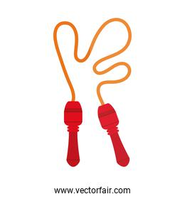 cartoon jump rope toy object for small children to play, flat style icon