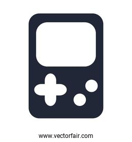 cartoon video game portable console toy object for small children to play, silhouette style icon