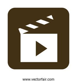 mobile application movie video and film web button menu digital flat style icon