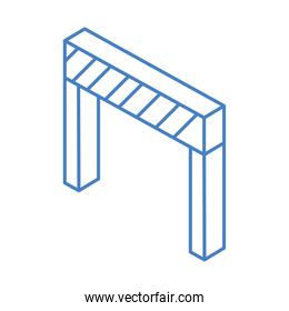 isometric repair construction barrier work tool and equipment linear style icon design