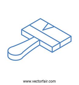 isometric repair construction color paint brush work tool and equipment linear style icon design