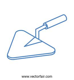 isometric repair construction trowel work tool and equipment linear style icon design