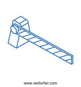 isometric repair construction automatic barrier work tool and equipment linear style icon design