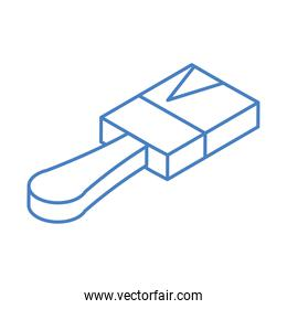 isometric repair construction paint brush work tool and equipment linear style icon design